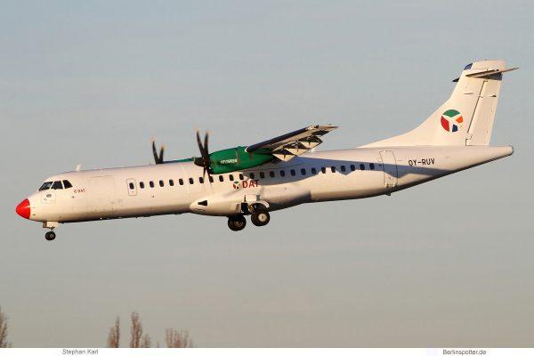 DAT Danish Air Transport, ATR72-600 OY-RUV (TXL 2.1.2020)