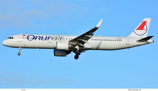 Onur Air Airbus A321neo TC-OED (SXF 5.1.2020)