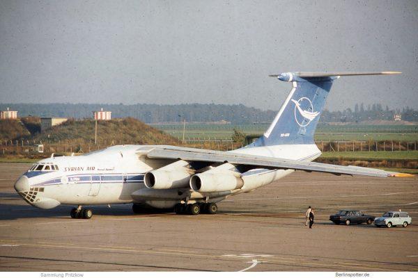 Syrian Air, Ilyushin 76M YK-ATD (SXF 1980er Jahre)