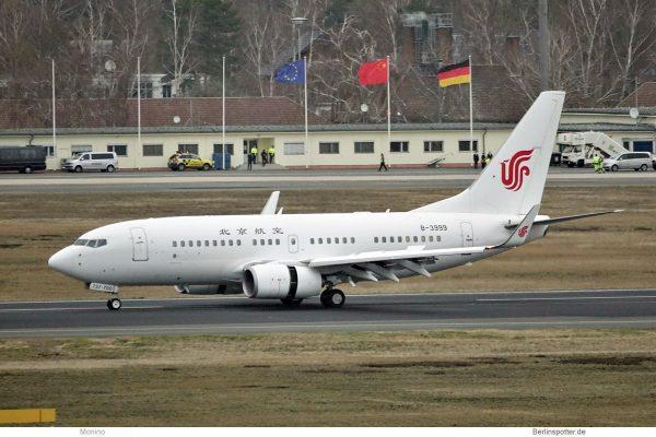 Beijing Airlines, Boeing 737-700(WL) B-3999 (TXL 13.2.2020)