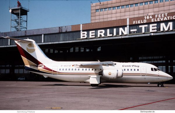 Conti-Flug, British Aerospace BAe 146-200 D-ACFA (THF 1992/93)