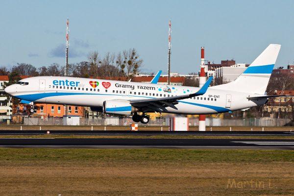 Enter Air, Boeing 737-800(WL) SP-ENT (TXL 5.2.2020)