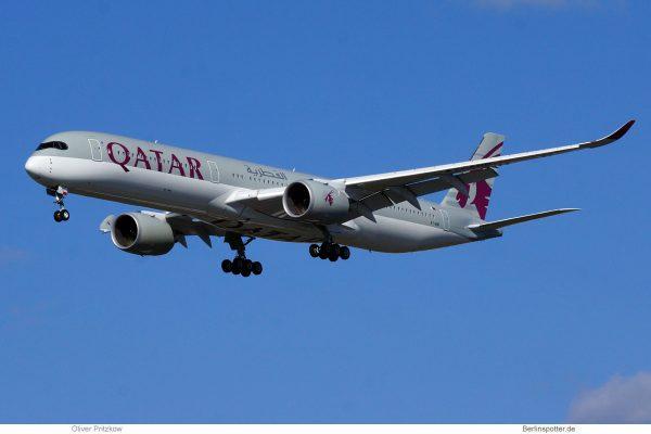 Qatar Airways, Airbus A350-1000 A7-ANB (TXL 4.4.2020)