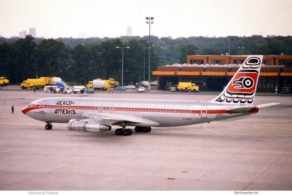 Aeroamerica, Boeing 707-123B N7521A (TXL 8.7.1978)