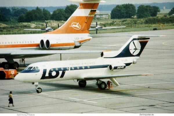 LOT Polish Airlines, Yakovlev Yak-40 SP-GEB (SXF 1980er Jahre)