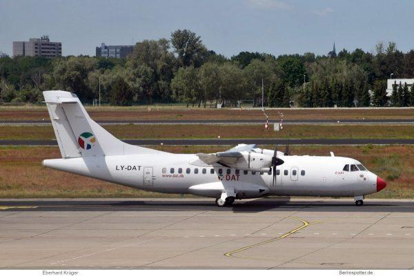 DOT LT Danu Oro Transportas, ATR42-500 LY-DAT (TXL 2.6.2020)
