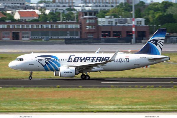 Egyptair, Airbus A320neo SU-GFK (SXF 16.6.2020)