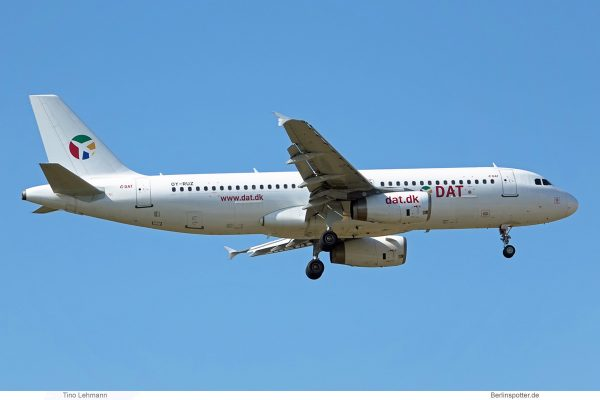 DAT Danish Air Transport, Airbus A320-200 OY-RUZ (SXF 11.8.2020)