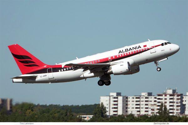 Albania Gvmt., Airbus A319-100 CorporateJet TC-ANA (TXL 18.9.2020)