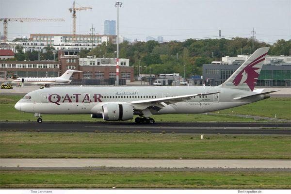 Qatar Airways, Boeing 787-8 Dreamliner A7-BCD (SXF 12.10.2020)