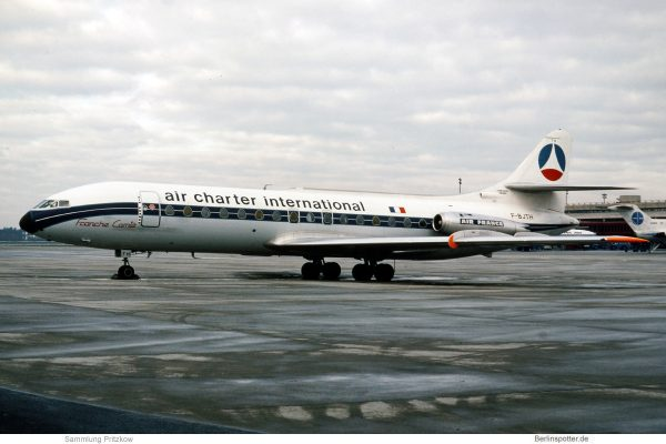 Air Charter International, SE-210 Caravelle III F-BJTH (TXL 20.11.1976)