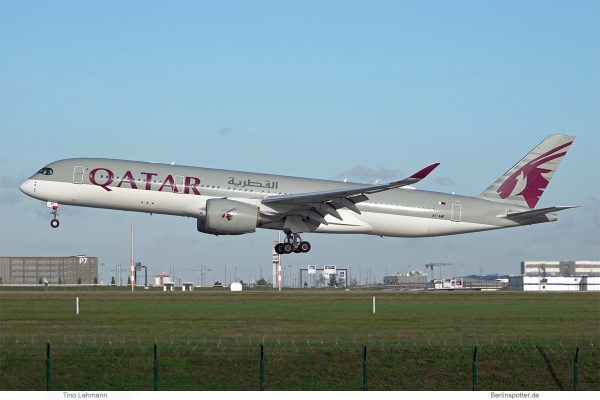 Qatar Airways, Airbus A350-900 A7-AMF (BER 4.11.2020)