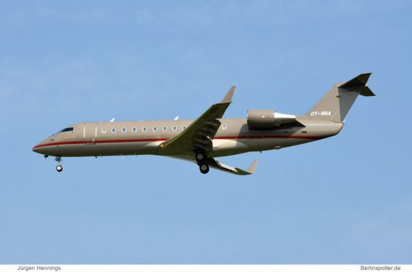 ExecuJet Scandinavia, Bombardier Challenger 850 OY-NNA (SXF 26.4.2013)