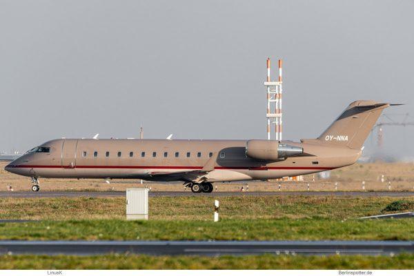 ExecuJet Scamdinavia, Bombardier Challenger 850 OY-NNA (BER 14.12.2020)