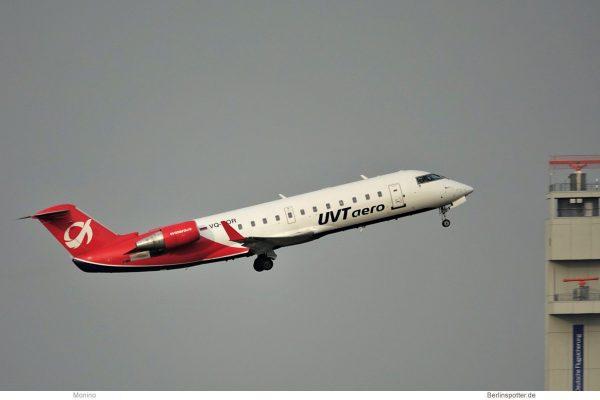 UVT Aero, Bombardier CRJ200 VQ-BOR (BER 6.12.2020)