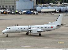SkyWork Airlines Saab 2000 HB-IZB (Berlin TXL 3.8. 2016)