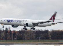 Qatar Airways, Boeing 777-300ER A7-BAA (TXL 7.3. 2017)