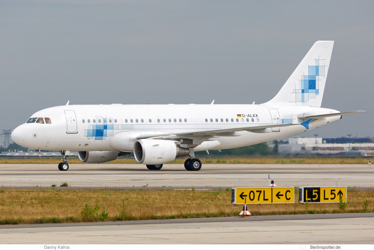K5-Aviation, Airbus A319(CJ) D-ALXX (SXF 6.6. 2017)