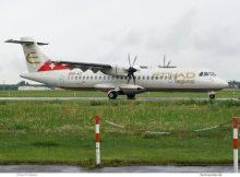 Etihad Regional operated by Darwin Airline, ATR72-500 HB-ACC (TXL 5.8. 2017)