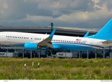 Xtra Airways, Boeing 737-800(WL) N881XA, ex-Hillary Clinton cs. (SXF/BER 13.8. 2017)