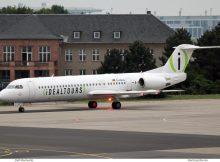 Avanti Air, Fokker 100 D-AOLG, Idealtours-Bemalung (SXF 11.5. 2018)