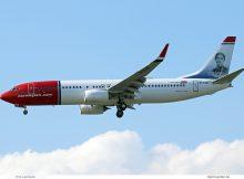 Norwegian Air International, Boeing 737-800(WL) EI-FJS, Karin Larsson im Tail (SXF 3.5. 2018)