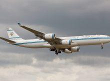 Kuwait Gvmt., Airbus A340-500 9K-GBA (TXL 25.6. 2018)