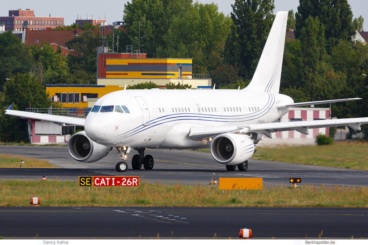 Acropolis Aviation, Airbus A319CJ G-NOAH (TXL 25.8. 2018)