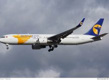 MIAT Mongolian Airlines, Boeing 767-300ER(WL) JU-1021 (TXL 16.2. 2014)
