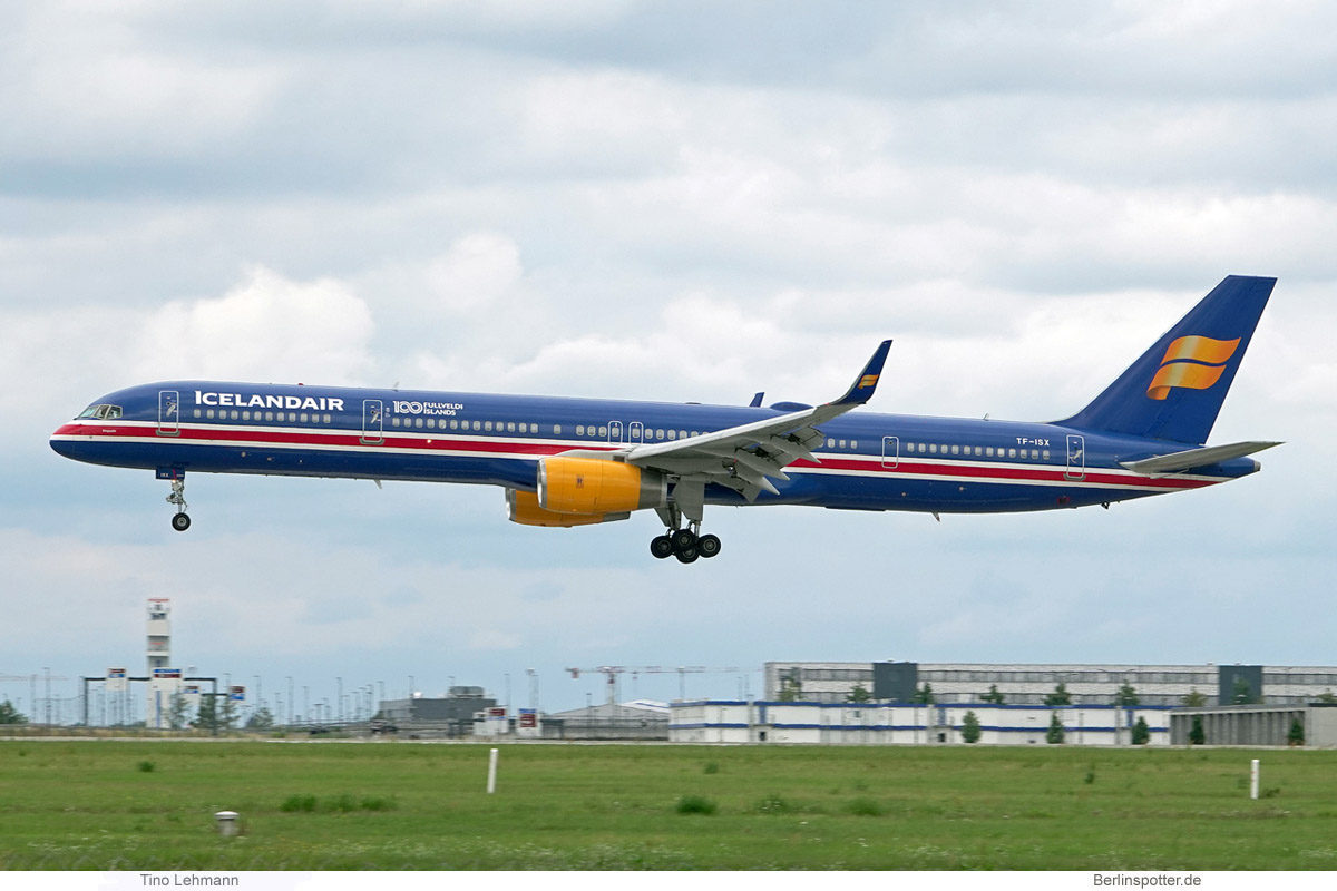Icelandair, Boeing 757-300(WL) TF-ISX, 100 Years Icelandic Independence (BER 1.8.2021)