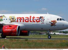 Air Malta, Airbus A320neo 9H-NEO, Nickelodeon cs. (TXL 2.6.2019)