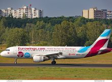 Eurowings, Airbus A320-200 D-ABHC, Eurowings Hotels powered by HRS (TXL 12.9.2019)