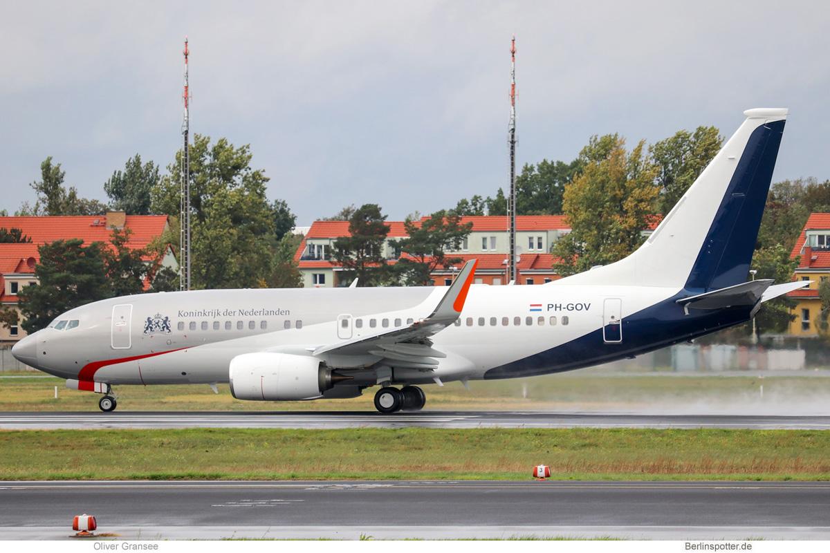 Government of the Netherlands, Boeing 737-700(BBJ) PH-GOV (TXL 1.10.2019)