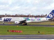LOT Polish Airlines, Embraer 195LR SP-LNC, Śliwka Nałęczowska-Bemalung (TXL 29.11.2019)