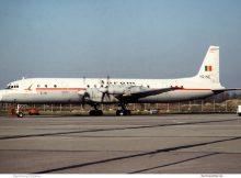 Tarom, Ilyushin Il-18 YR-IME (SXF 1980er Jahre)