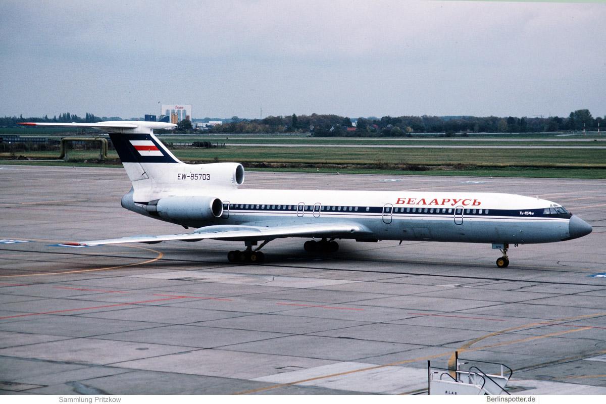 Belarus Tupolev 154M EW-85703 (SXF 01/1994)