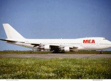 MEA Middle East Airlines, Boeing 747-100 F-BPVD (SXF Sommer 1993)