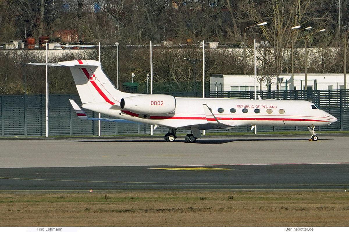 Polish Gvmt (Polish Air Force) Gulfstream G550 '0002' (BER 21.1.2021)