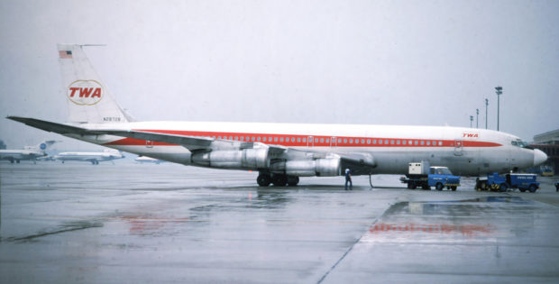 TWA Trans World Airlines, Boeing 707-331B N28728 (TXL 7.6.1978)