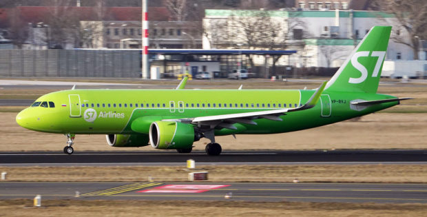 S7 Airlines, Airbus A320neo VP-BVJ (BER 23.2.2021)