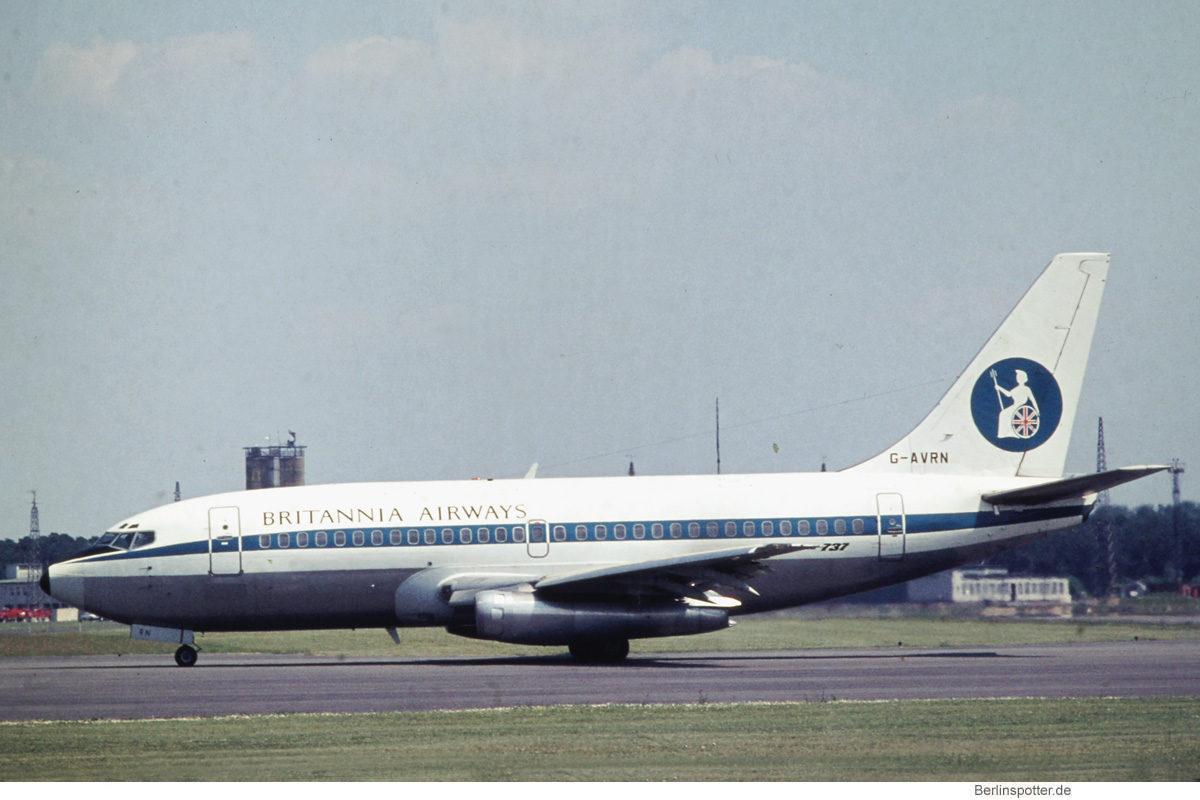 Britannia Airways, Boeing 737-200 G-AVRN (GWW ca. 1971)