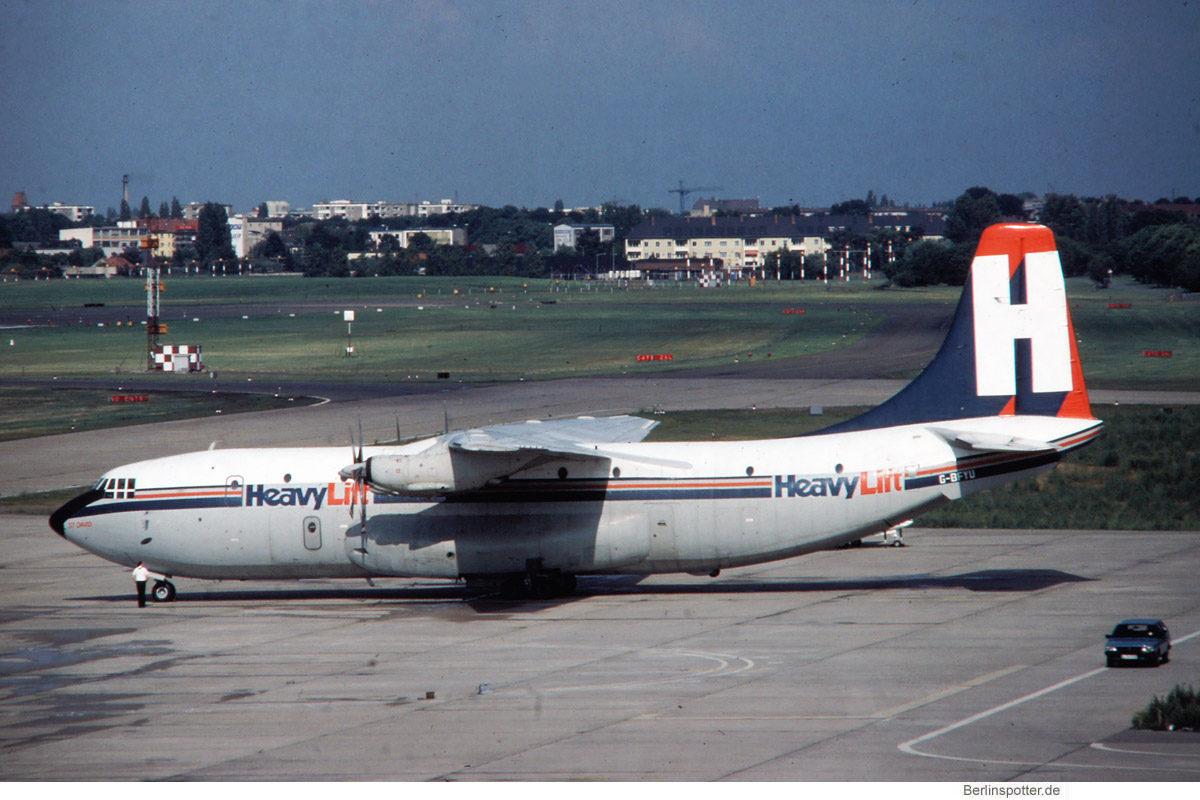 HeavyLift, Short S.C-5 'Belfast' G-BFYU (TXL 1980er Jahre)