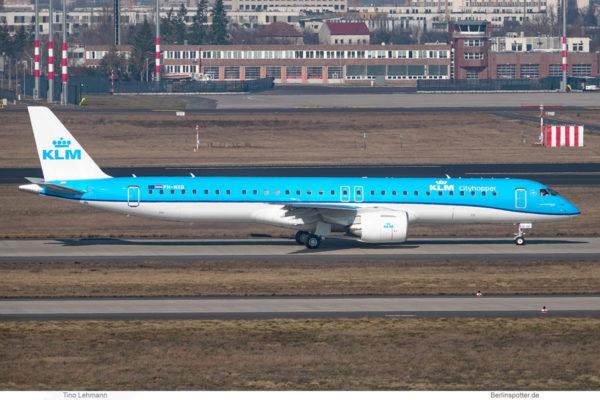 KLM cityhopper, Embraer 195-E2 PH-NXB (BER 3.3.2021)