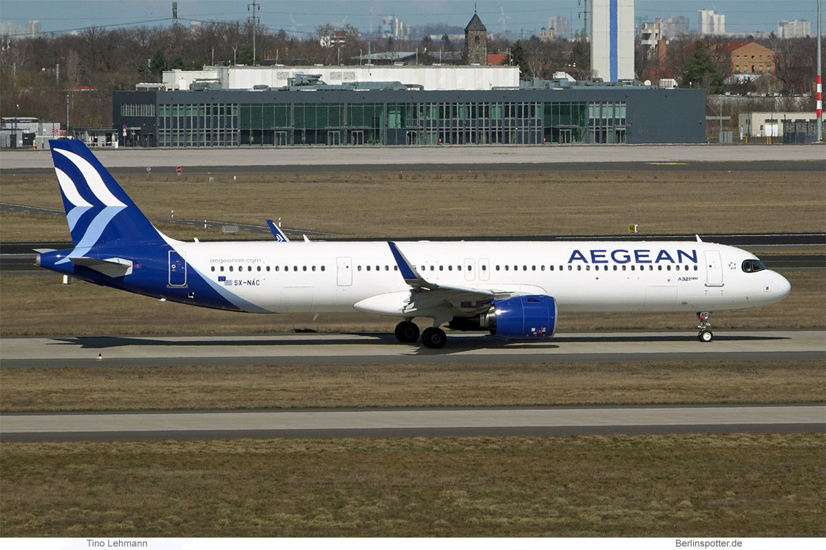 Aegean Airlines, Airbus A321neo SX-NAC (BER 22.3.2021)