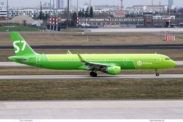 S7 Airlines, Airbus A321-200(SL) VQ-BFJ (BER 23.3.2021)
