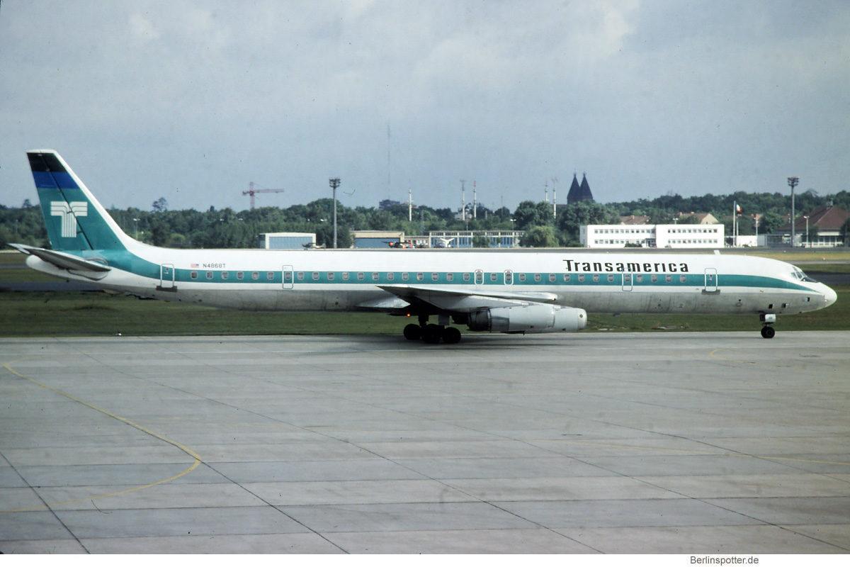 Transamerica, Douglas DC-8-63CF N4868T (TXL ca. 1982)