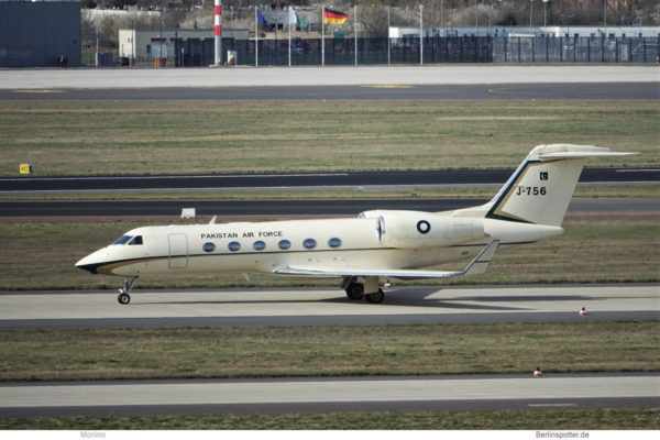 Pakistan Air Force, Gulfstream G-450 J-756 (BER 13.4.2021)