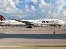 Qatar Airways, Boeing 777-300ER A7-BAB (BER 11.5.2021)