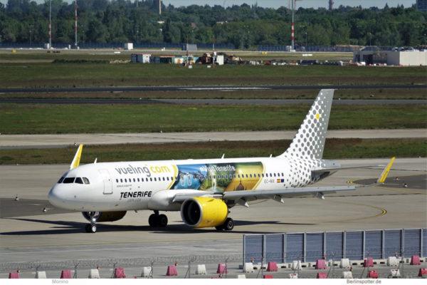 """Vueling, Airbus A320neo EC-NIX """" Visit Tenerife"""" (BER 30.5.2021)"""