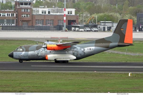 Luftwaffe, C-160 Transall 50+40, LTG 63 Goodbye Tour (BER 4.5.2021)